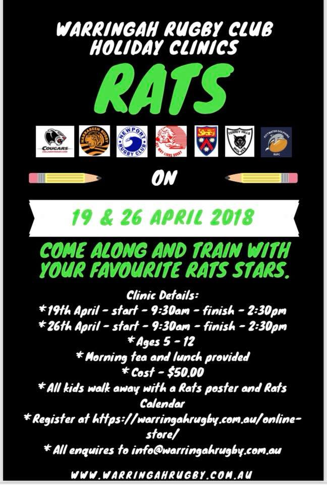 Warringah Rats Rugby Holiday Clinic