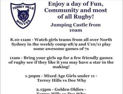 Back to Terrey Hills Day – come and enjoy the Rugby….