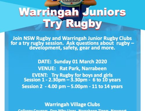 Winter sport is just around the corner.  This Sunday Warringah Rugby are holding…