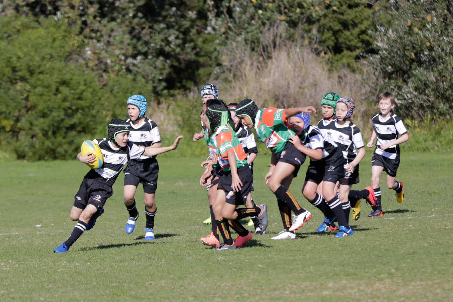 Action from the U10s game against Penrith...