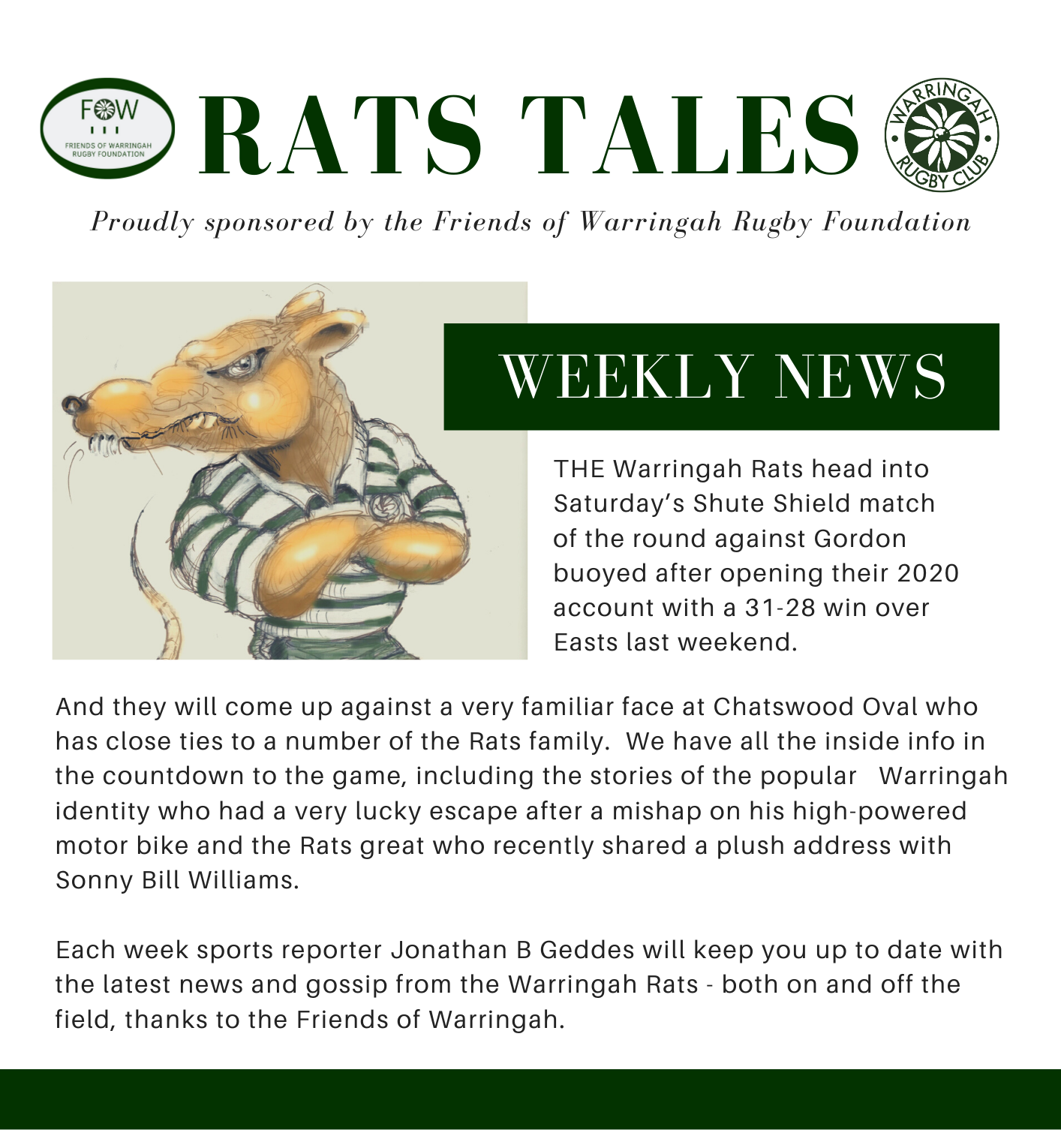Rats Tales Newsletter Edition 4.