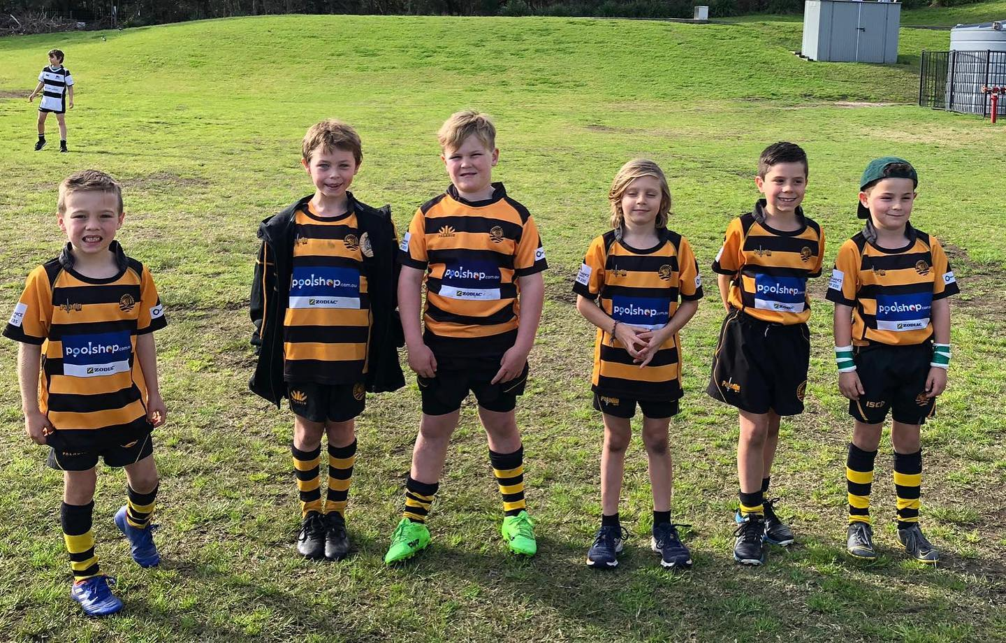 SHUTE SHIELD JUNIOR ROUND  These little tigers got the chance to run out with th...