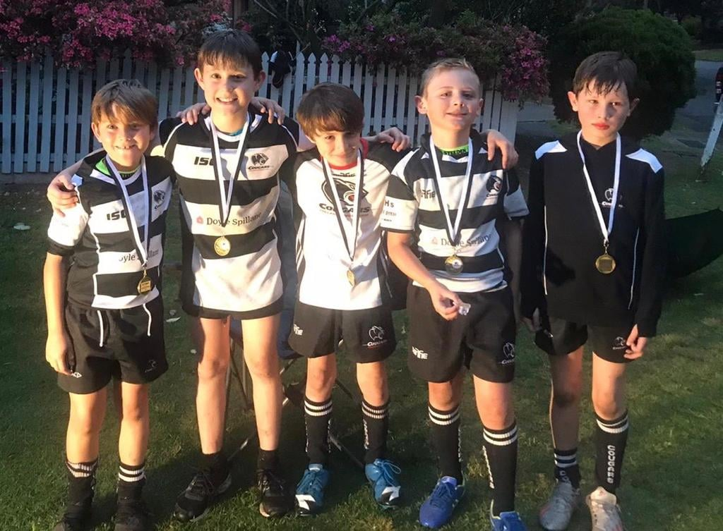 Congratulations to six of our U9s that played their 50th game for the Cougars th...