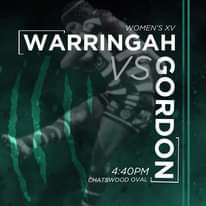 """Image may contain: one or more people, text that says """"WOMEN'S XV WARRINGAH 4:40PM VSQ 300 Gor z CHATSWOOD OVAL"""""""