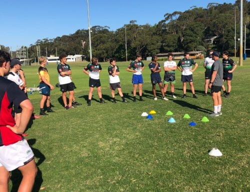 James Stannard taking our U17 squads through their final preparations for the we…