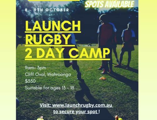 To secure your spot at the Launch Rugby 2 day camp visit:…