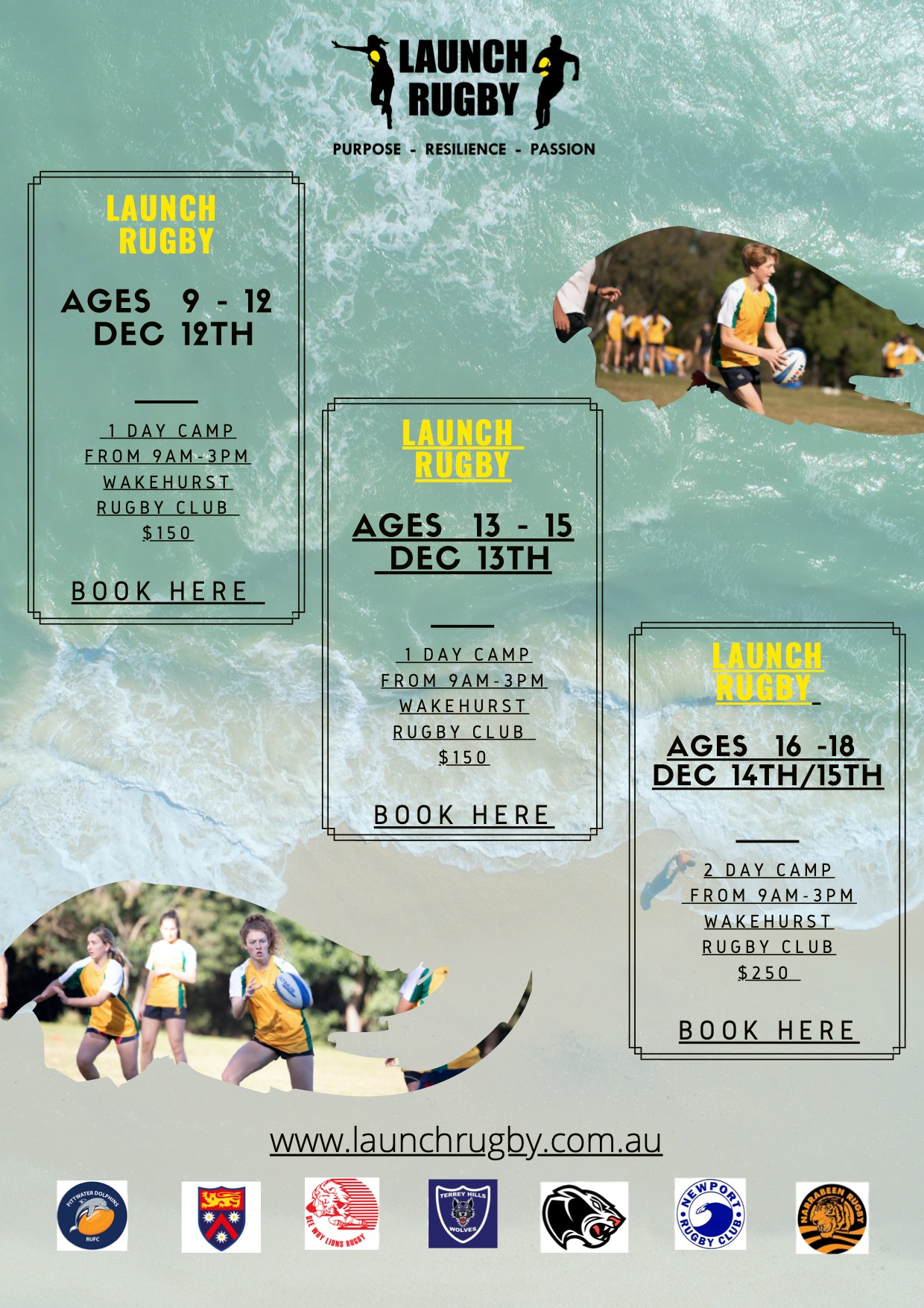Check out the Launch Rugby camps being held on the Northern Beaches...