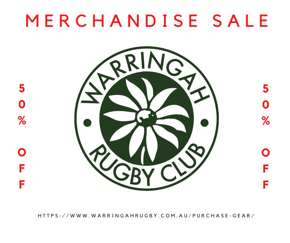 End of Season Sale.........Go to www.warringahrugby.com.au/purchase-gear/...