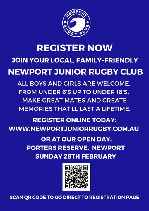 Registration for your great local Newpor