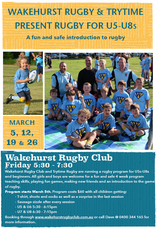 Wakehurst Rugby Club and TryTime Rugby w